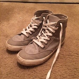 JustFab gray/taupe high top sneakers